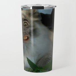 Nicolas Cage Cat Wants Nip Travel Mug