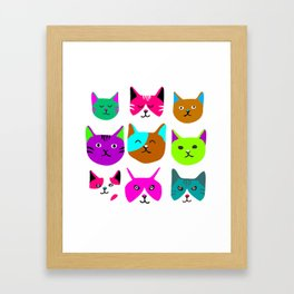 Cat heads Framed Art Print