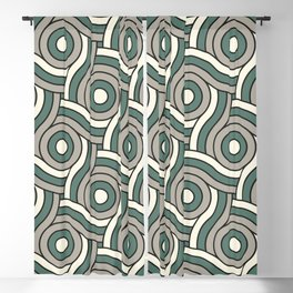 Circle Swirl Pattern Ever Classic Gray 32-24 Thistle Green 22-18 and Dover White 33-6 Blackout Curtain