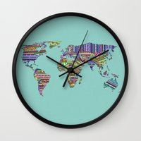 decal Wall Clocks featuring Overdose World by Bianca Green