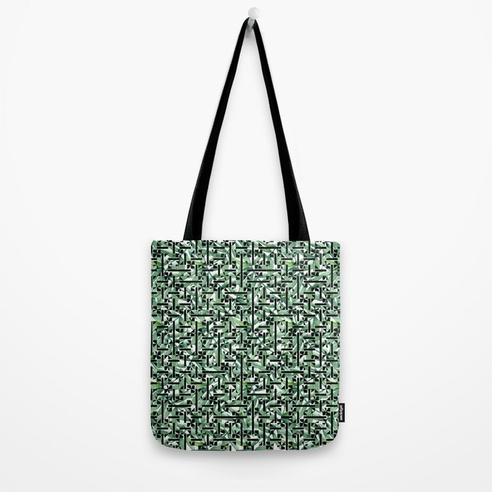 shapes and leaves Tote Bag