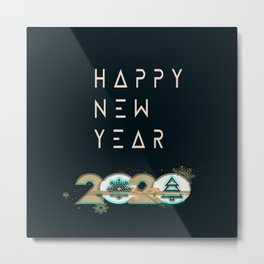 happy new year 2020 Metal Print
