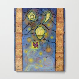 Touching the Light: One Danced with the Fireflies Illumination Print Metal Print