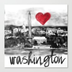 I love Washington Canvas Print