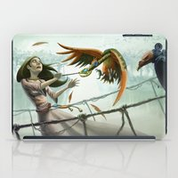 snatch iPad Cases featuring Birds in Chase by Ryan James Art