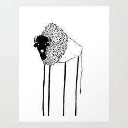 Creepy Buffalo Art Print