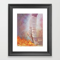 Ballet Shoes & Flames of Fire Framed Art Print