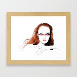 Love Girls - Blood redhead Framed Art Print