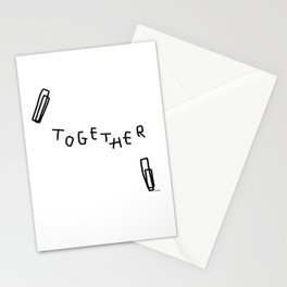 We, Together - black and white typography Stationery Cards