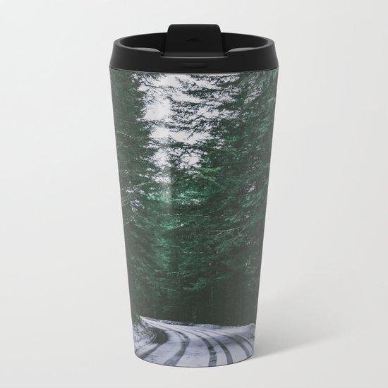 Winter Drive II Metal Travel Mug
