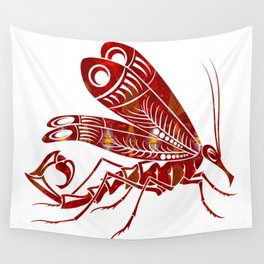 Red Winged Beauty Fantasy Designs Abstract Holiday Art Wall Tapestry