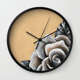 A Rose For My Love Wall Clock
