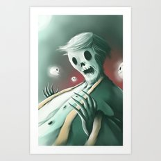 The haunted thoughts Art Print