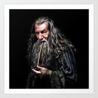 gandalf Art Prints featuring Gandalf  by DavinciArt