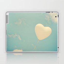 Nostalgic Love, Vintage Heart Balloon  Laptop & iPad Skin