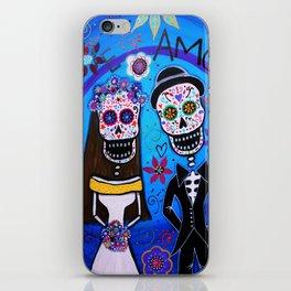 Dia de los Muertos Special Wedding Calavera Painting iPhone Skin