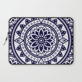 Mandala Blue Spiritual Zen Bohemian Hippie Yoga Mantra Meditation Laptop Sleeve