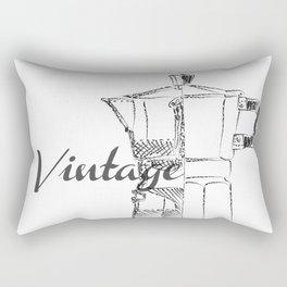 Coffee pot blueprint sketch Rectangular Pillow