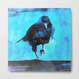 Creepy Crow Metal Print