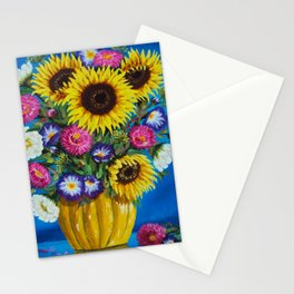 Bright Flowes Stationery Cards