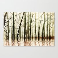 ghost Canvas Prints featuring GHOST TREES by Catspaws