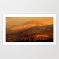 Winter Fire Through The Valley Art Print