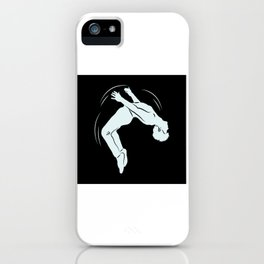 Ask Me If I Can Do A Back Flip Motif iPhone Case