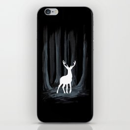 Glowing White Stag iPhone Skin
