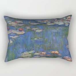 WATER LILIES - CLAUDE MONET Rectangular Pillow