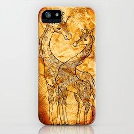 Henna Giraffe iPhone Case