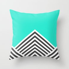 Minty Fresh Chevron Throw Pillow