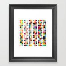 Palette color 100 Framed Art Print
