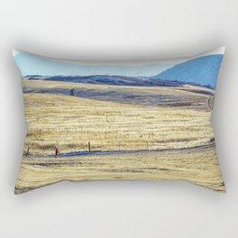 Winter Run Rectangular Pillow