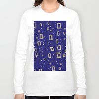 klimt Long Sleeve T-shirts featuring Blue- Klimt inspired by Angela Capacchione