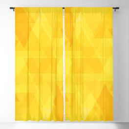 Bright yellow triangles in intersection and overlay. Blackout Curtain