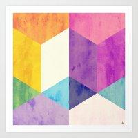 RubyTres Textured Art Print