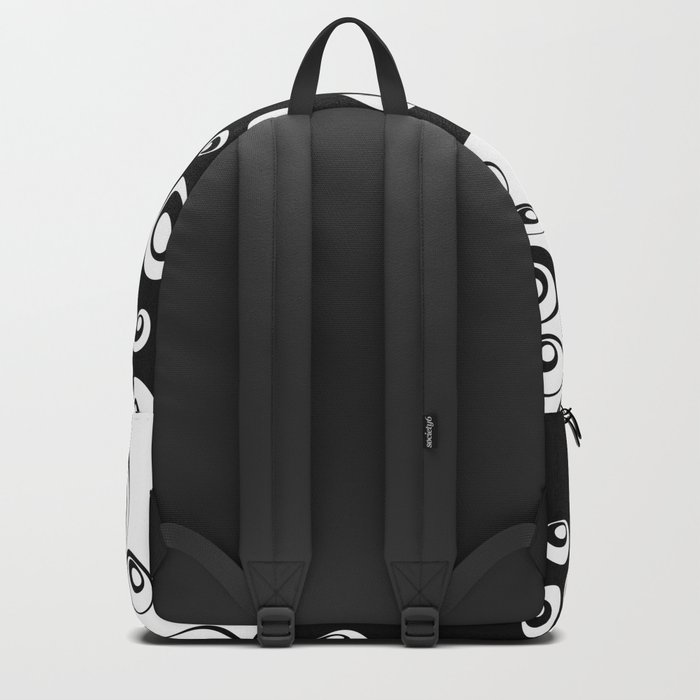 Black and White Only 2 Backpack