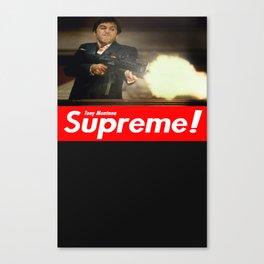Tony Montana Supreme Canvas Print