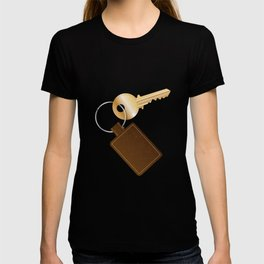 Leather Key Fob With Key T-shirt