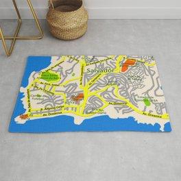 Salvador, Brasil Map Design Rug