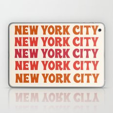 New York City - throwback 70's style colorful typography minimal decor art 1970s Laptop & iPad Skin