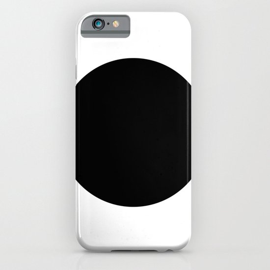 The Circle – Black iPhone & iPod Case