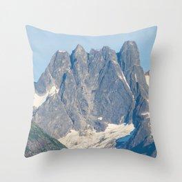 The Mountain's Crown Throw Pillow