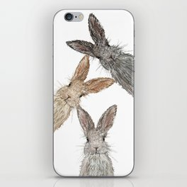 Triple Bunnies iPhone Skin