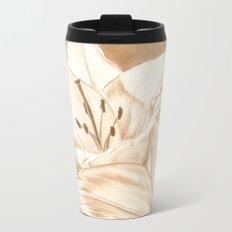 Lilies Metal Travel Mug