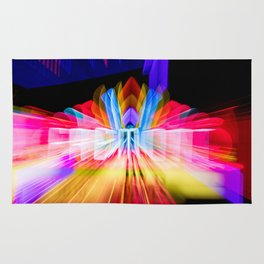 Lights Camera Action Fremont Theater zoom burst photograph Rug
