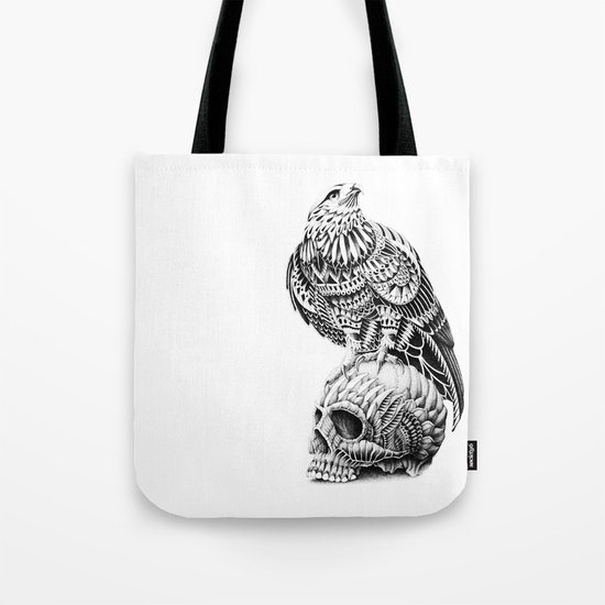 Red-Tail Skull Tote Bag