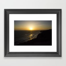Cliff Top Sunset Framed Art Print
