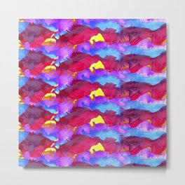 Colorful pattern paint Metal Print