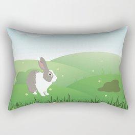 Dutch rabbit in field Rectangular Pillow